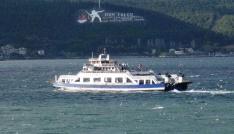 Bozcaadada feribot seferlerine fırtına engeli