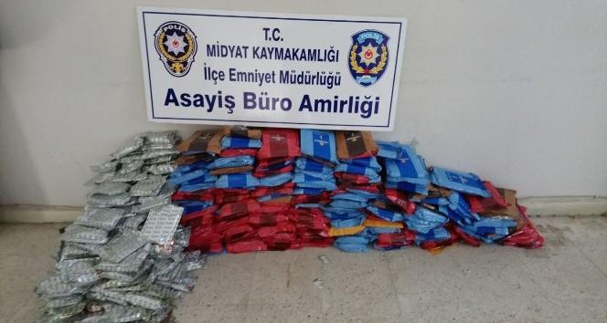 Midyatta 250 kilogram kaçak nargile tütünü ele geçirildi