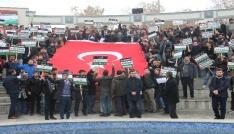 Konyada STKlardan Kudüs protestosu