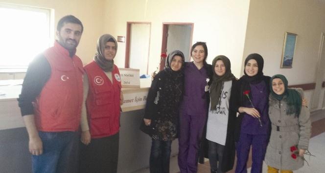 Gençlik merkezinden hastane ziyareti