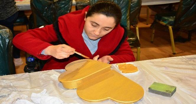 Engeller ahşap boyama kursuyla aşılacak