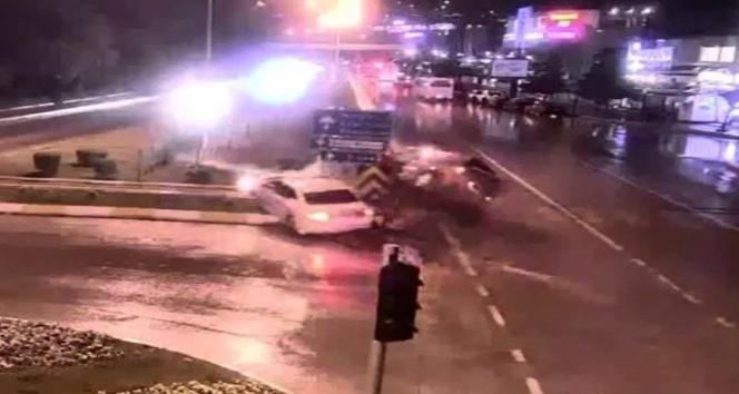 Tokatta kavşaklarda meydana gelen kazalar MOBESEye yansıdı