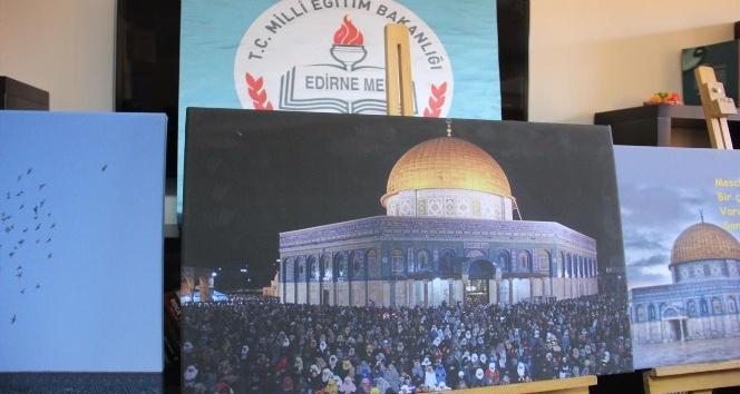 Edirnede Kudüs sergisi açıldı