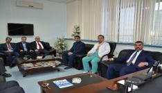 MHP İl Başkanı Avşardan Başhekim Parlakpınara ziyaret