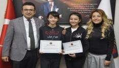 GKVli Rana ve Endama resim yarışmasında dünya jüri özel ödülü