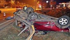 Antalyada trafik kazası: 1 ölü, 3 yaralı