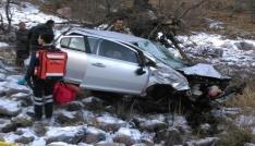 Bingölde otomobil şarampole yuvarlandı: 1 ölü