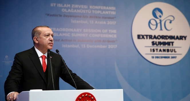 Cumhurbaşkanı Erdoğan, Kudüsü Filistinin başkenti olarak tanımaya çağırdı