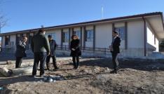 Kuluda 4 derslikli yeni okul inşaatında sona gelindi