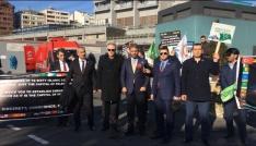 İstanbul Kongre Merkezi önünde Kudüs eylemi