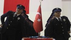Karamanda polis adaylarının mezuniyet sevinci
