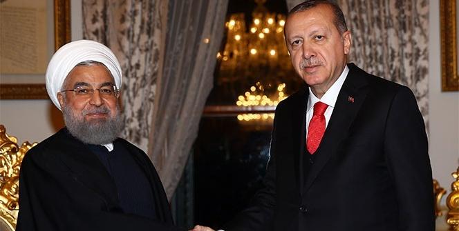 Cumhurbaşkanı Erdoğan, Ruhani ile bir araya geldi
