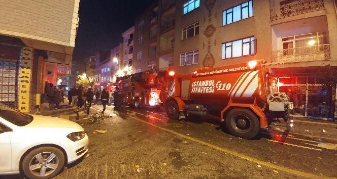 Zeytinburnunda korkutan iş yeri yangını