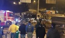 Ankarada freni boşalan alçı yüklü tır devrildi: 1 ölü