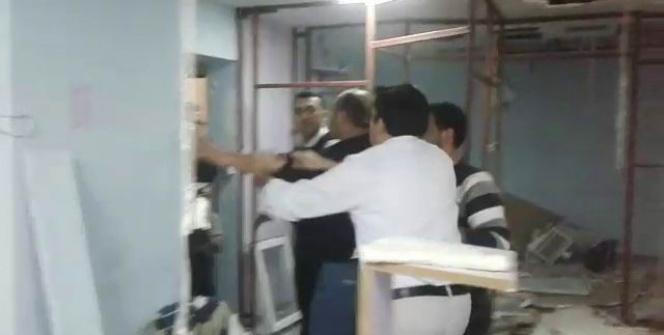 Hastane odasını kırıp dökerek cihazlarını götürdüler