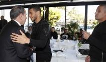 Galatasaraylı oyuncular moral yemeğinde bir araya geldi