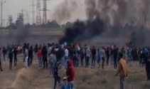 Gazzede İsrail askerleri gerçek mermi kullandı: 1 ölü, 96 yaralı