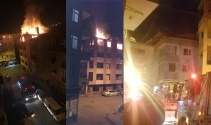 Madde bağımlıları 4 katlı metruk binayı yakıp kaçtı