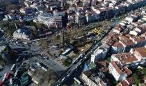 Beşiktaşta bulunan 3 bin 500 yıllık mezarlıklar havadan görüntülendi
