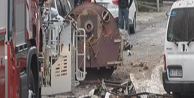 Gaziosmanpaşa'da tekstil atölyesinin buhar kazanı patladı: 2 yaralı