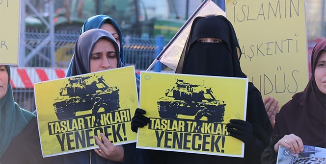 ABD Konsolosluğu önünde Kudüs eylemi