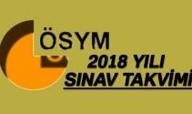 2018 ÖSYM sınav takvimi ? 2018'de hangi sınav ne zaman yapılacak ?