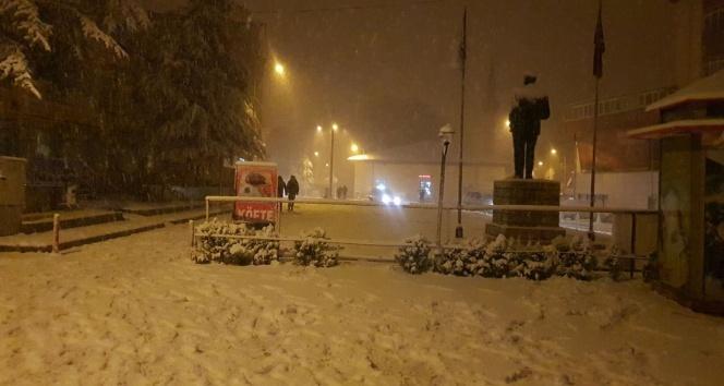Ispartada kar yağışı