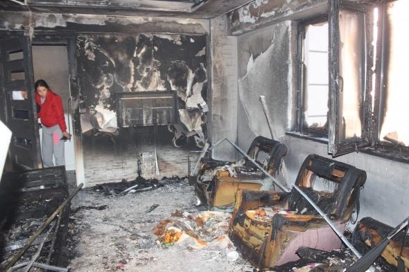 Elektronik sigara patlayınca yangın çıktı