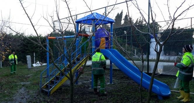 Büyükçekmecenin park ve bahçelerine bakım
