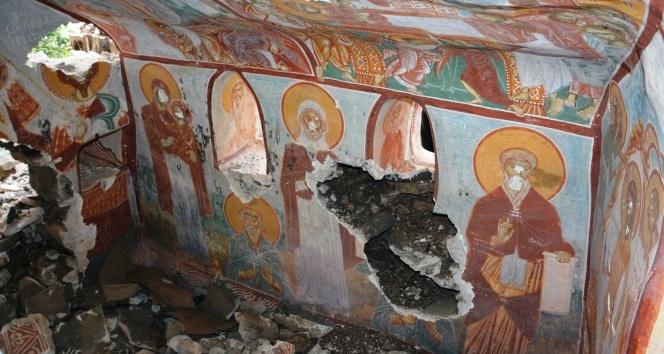 Sümela Manastırında yeni bulunan şapel ilk kez görüntülendi