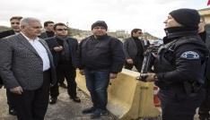 Başbakan Yıldırım, polis kontrol noktasında