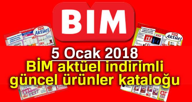 BİM 5 Ocak 2018 aktüel indirimli güncel ürünler kataloğu