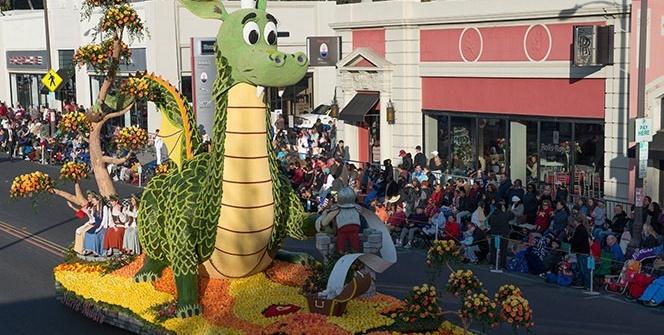 Kaliforniya'da 129'uncu Rose Parade geçit töreni gerçekleştirildi