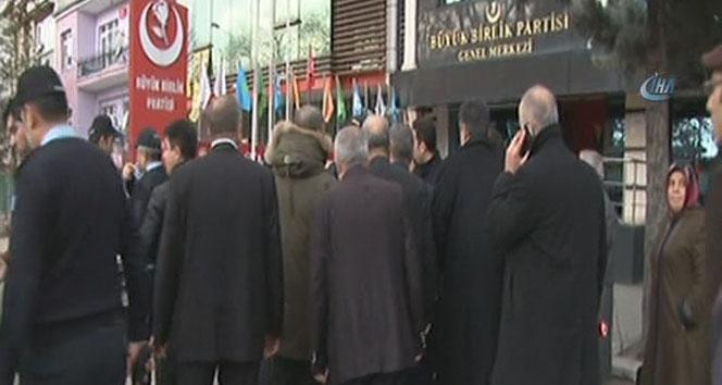 Ankarada BBP Genel Merkezinde yangın çıktı