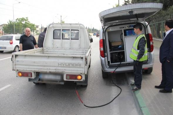 Egzoz gazı emisyonuna uymayan sürücülere 5 bin lira ceza