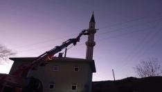 Hoparlörü onarmak için çıktığı minarede kalp krizi geçirip öldü