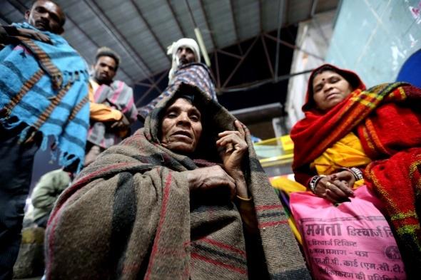 Hindistan'da soğuk hava dalgası: 187 ölü