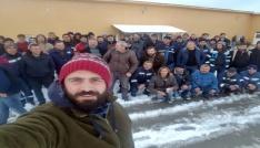 Artvinde maden çalışanları greve gitti, üretim durdu
