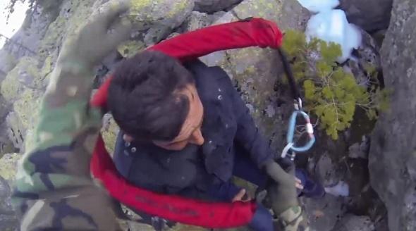 Uludağ'da nefes kesen kurtarma kameraya böyle yansıdı