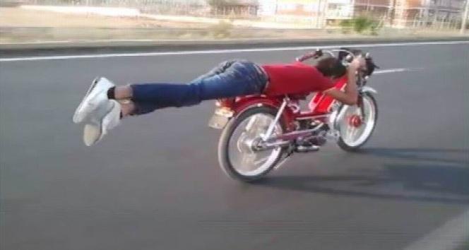 Modifiye motosiklet ile ölümüne seyir