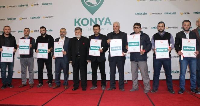 Konya'da ailelerin tapu heyecanı