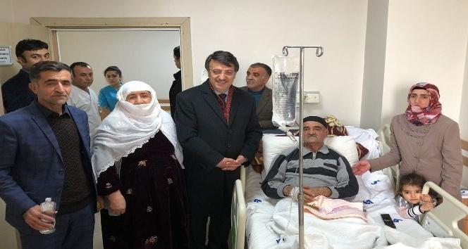 Başkan Türkmenoğlu'ndan hasta ziyareti