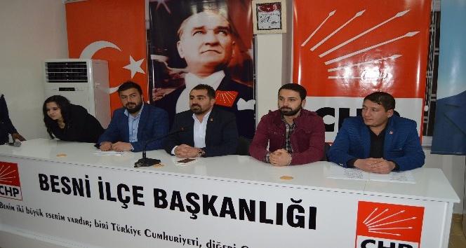 CHP Besni İlçe Gençlik Kolları Başkanlığında kongre heyecanı yaşandı