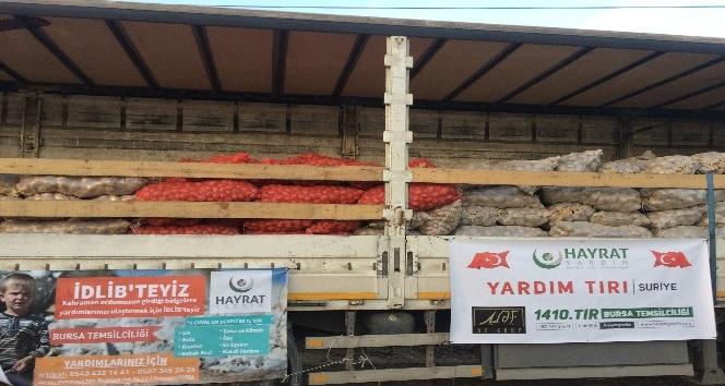 Bin 410'uncu tır Suriye için yola çıktı