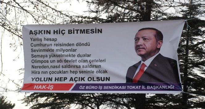 Tokat'ta, Cumhurbaşkanı Erdoğan hazırlığı