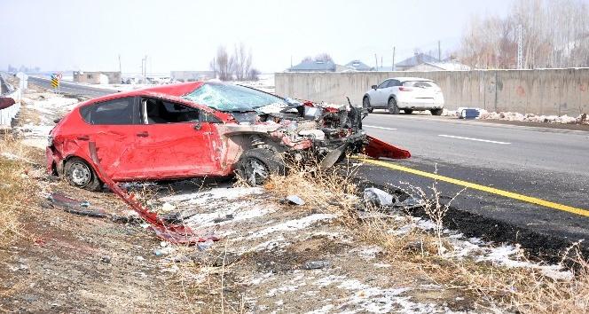 Patnos'ta trafik kazası: 2 yaralı