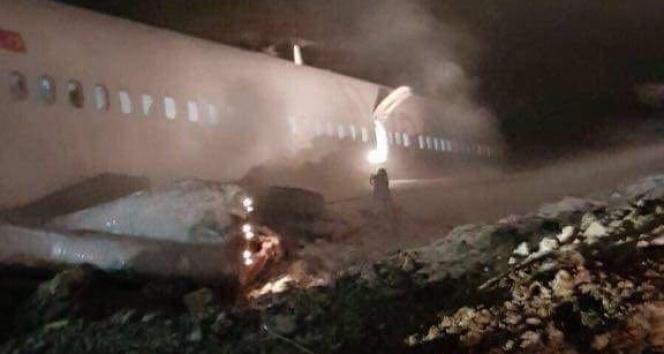 Trabzon Havalimanı'na iniş yapan Ankara uçağı pistten çıktı! | Trabzon havalimanı | Trabzon haberleri
