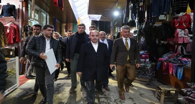 Vali Mehmet Aktaş esnaf ziyaretinde bulundu