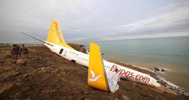 Pegasus Havayolları yetkilileri pistten çıkan uçakları ile ilgili Trabzon'a gelerek inceleme başlattı