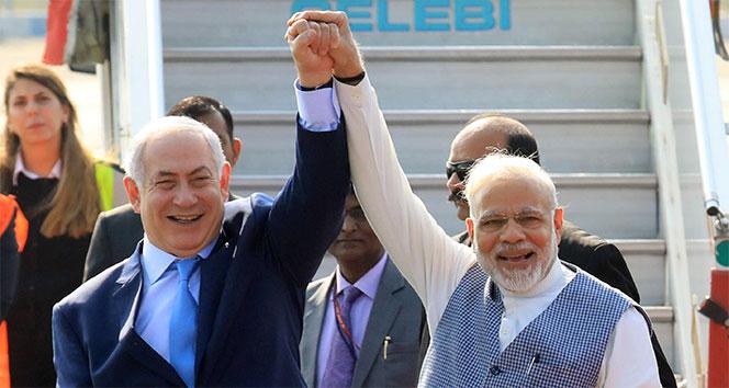 İsrail Başbakanı Netanyahu, Hindistanda